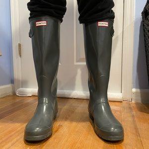 Hunter bots- Tall in glossy grey